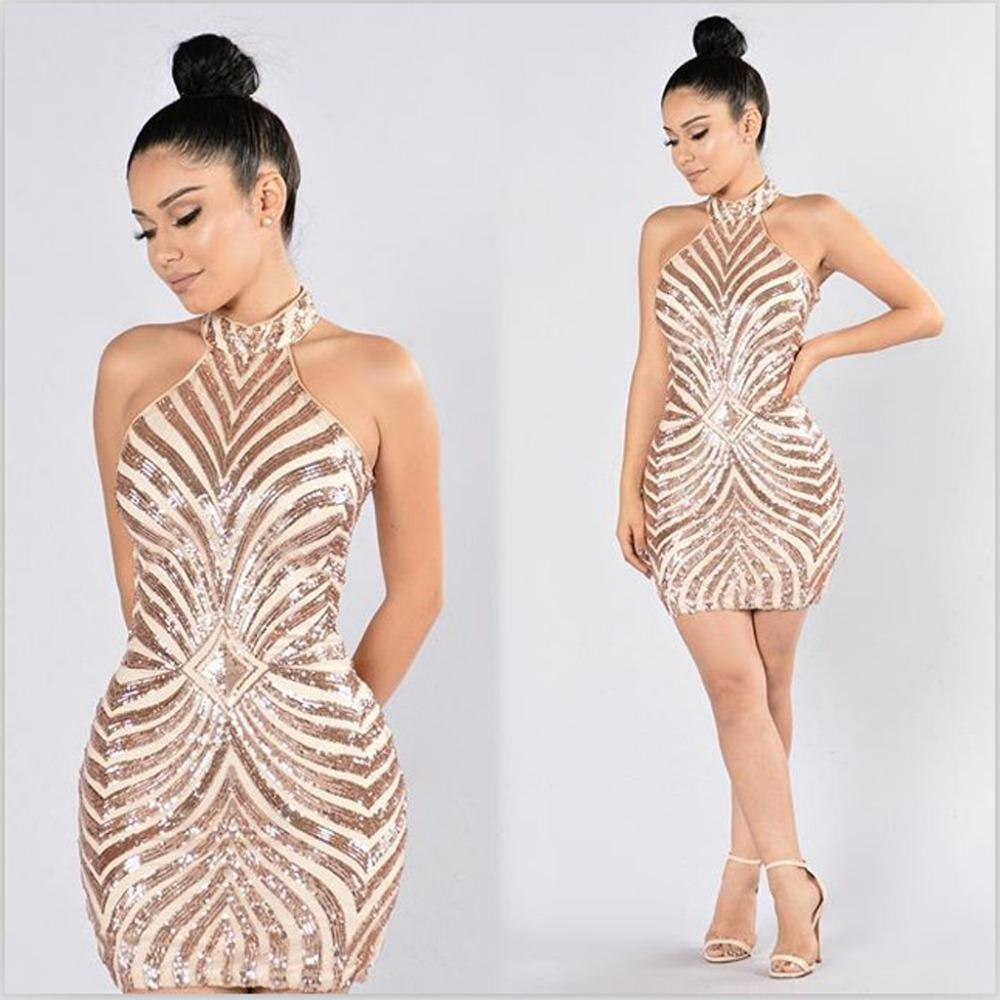 Bandage Party Evening Sequined Dresses