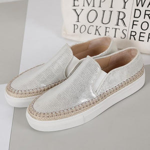 Bling Pattern Slip-on Casual Shoes