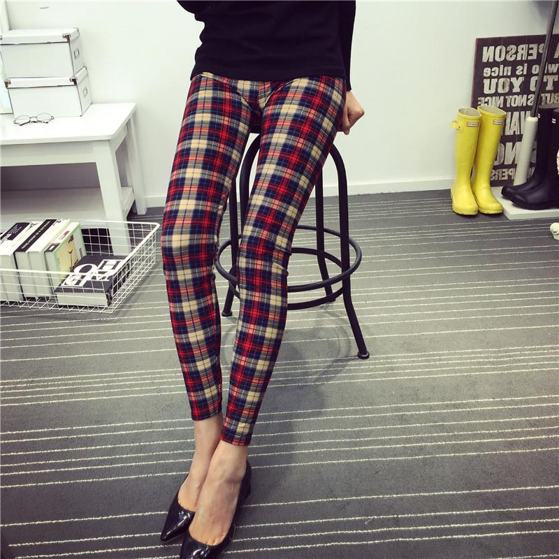 The plaid pants trousers