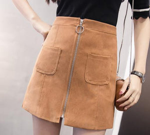 Retro Mini Skirt With Pockets