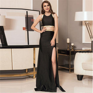 Two Pieces Set Gold Strap Dress