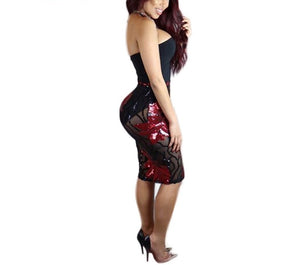Bodycon overlay with a floral skirt