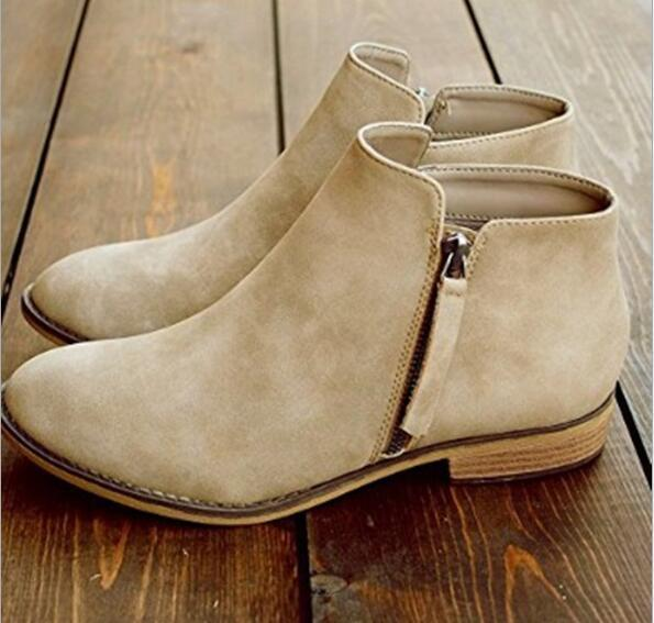 ankle motorcycle casual boots
