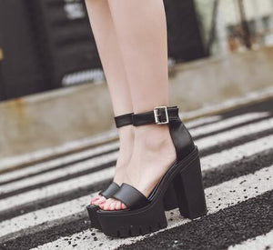 Thick Heels Sandals Platform Shoes