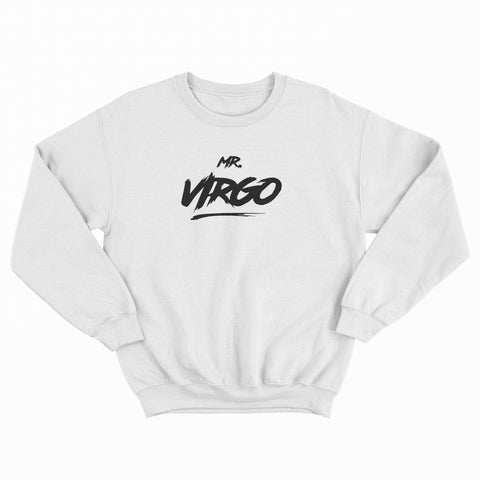 Mr Virgo Jumper White