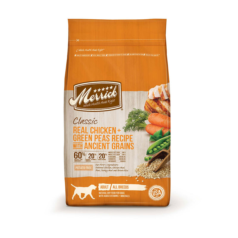 Merrick® Classic Real Chicken & Green Peas Recipe with Ancient Grains Dog Food 12 Lbs