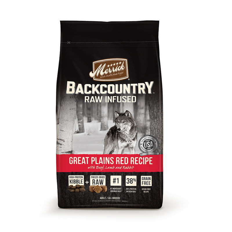 Merrick® Backcountry® Raw Infused Great Plains Red Recipe Dog Food 12 Lbs