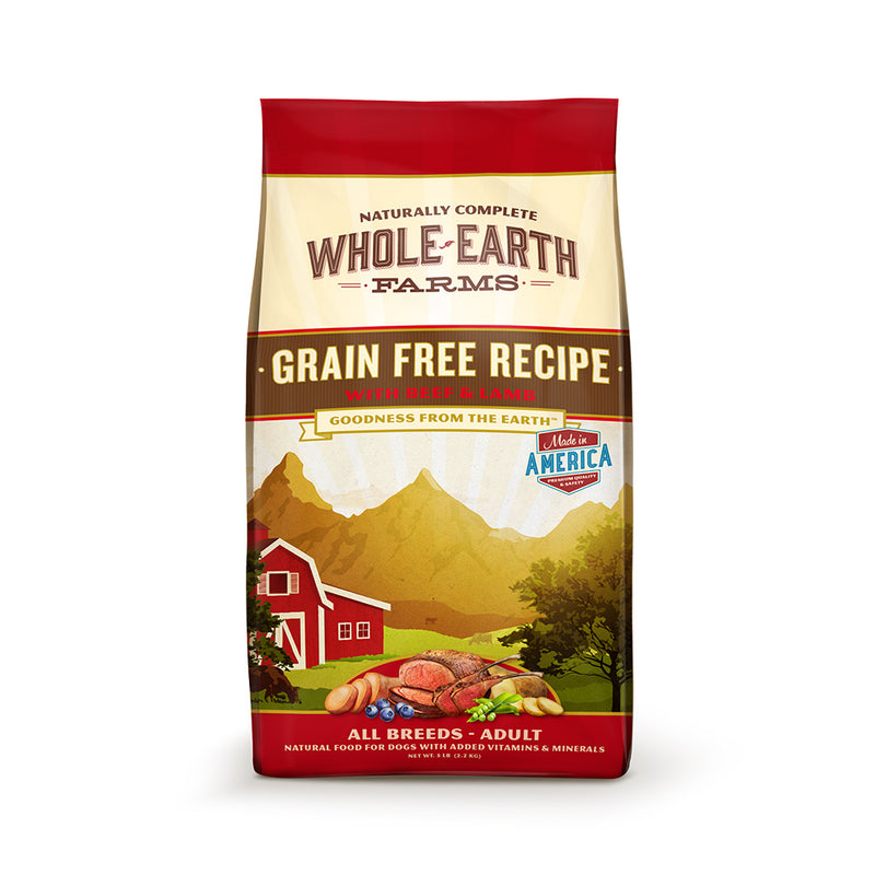Whole Earth Farms® Goodness from the Earth™ Grain Free Pork, Beef & Lamb Recipe Dog Food 4 Lbs