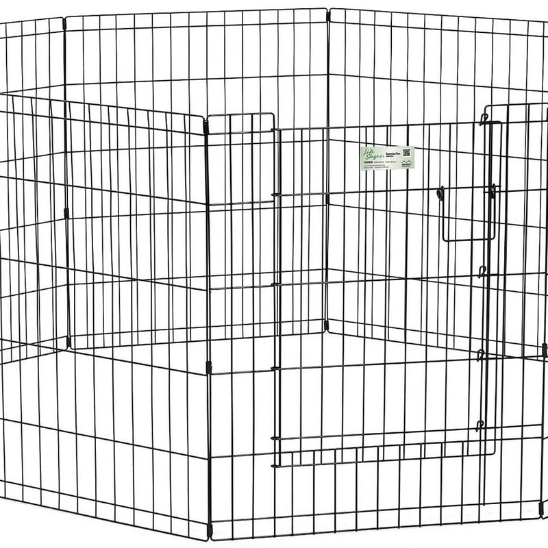 LifeStages® Exercise Pen with Full MAXLock Door for Dog Black Color 30 Inch