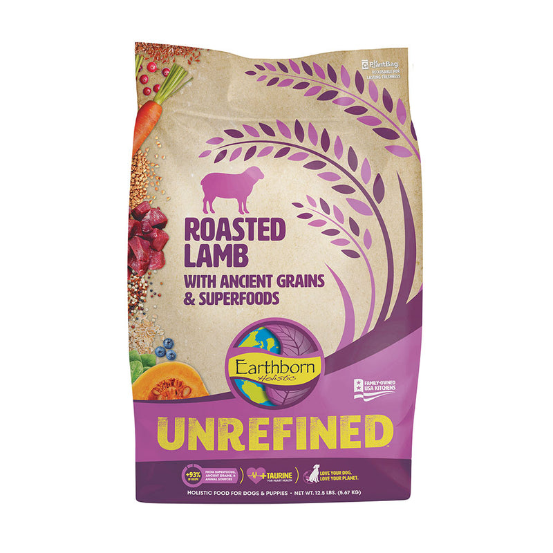 Earthborn Holistic® Unrefined™ Roasted Lamb with Ancient Grains & Superfoods for Dog 12.5 Lbs