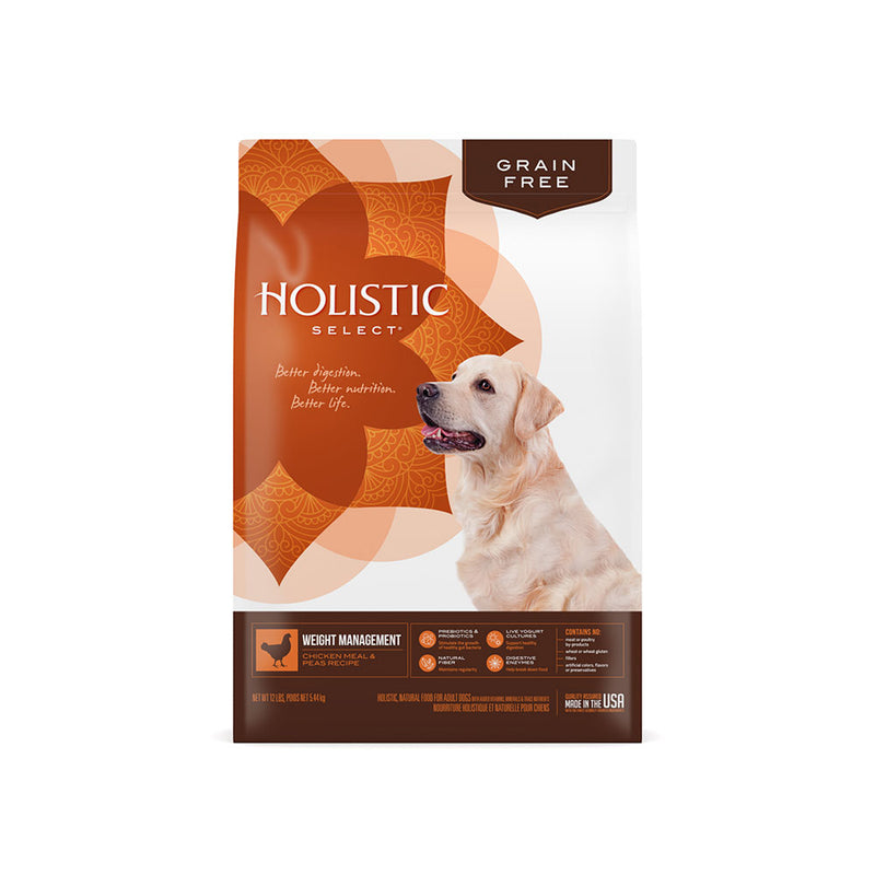 Holistic Select® Grain Free Weight Management Chicken Meal & Peas Recipe Dog Food 24 Lbs