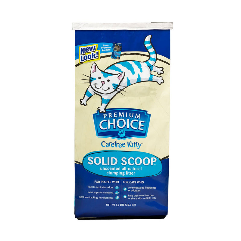 American Colloid Company® Premium Choice® Carefree Kitty™ Unscented All-Natural Clumping Litter 50 Lbs