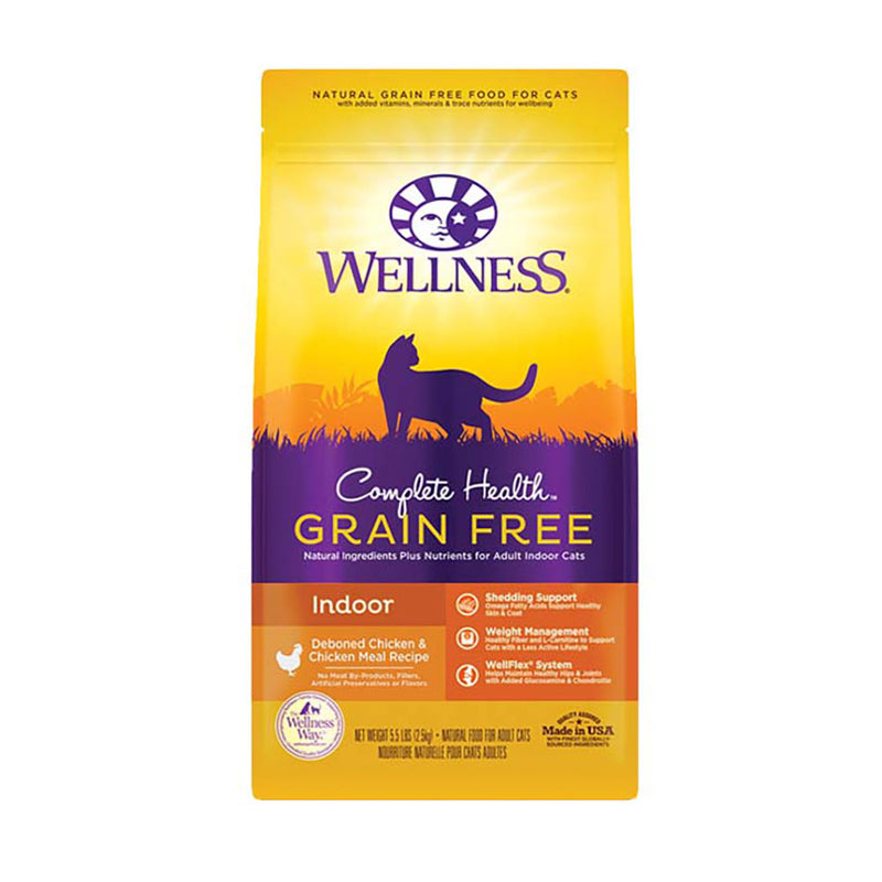 Wellness® Complete Health™ Grain Free Indoor Deboned Chicken & Chicken Meal Recipe Cat Food 5.5 Lbs