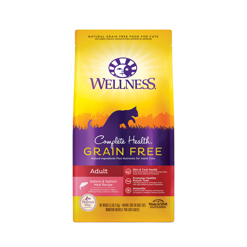 Wellness® Complete Health® Grain Free Salmon & Salmon Meal Recipe Adult Cat Food 5.5 Lbs