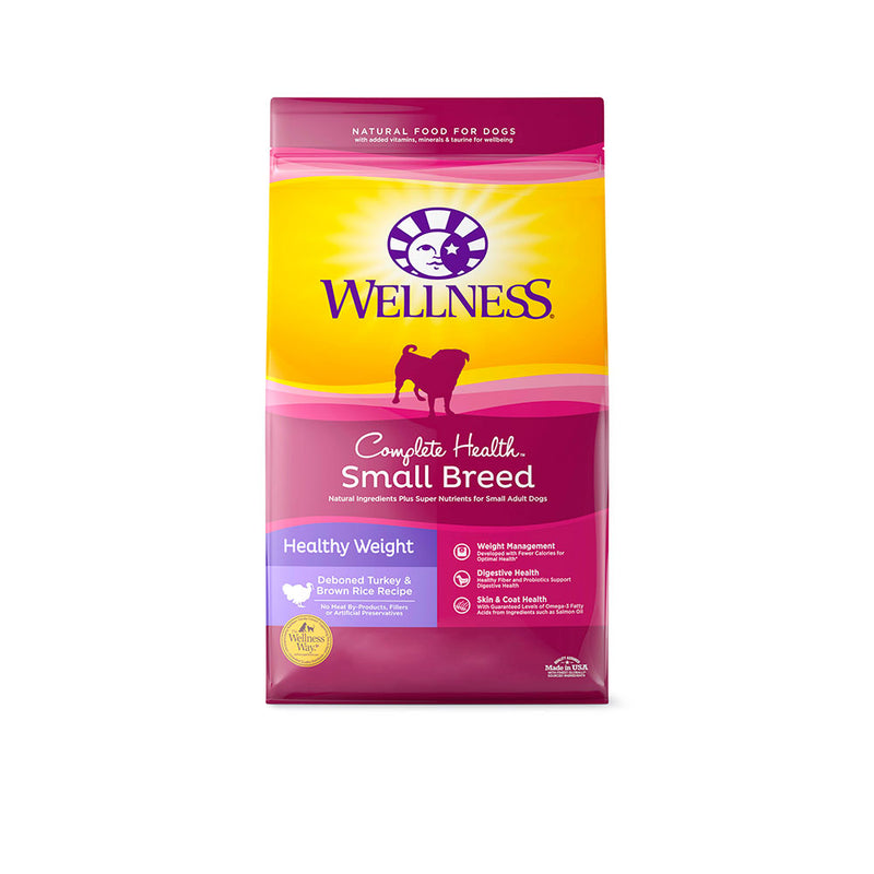 Wellness® Complete Health™ Healthy Weight Deboned Turkey & Brown Rice Recipe Small Breed Dog Food 4 Lbs