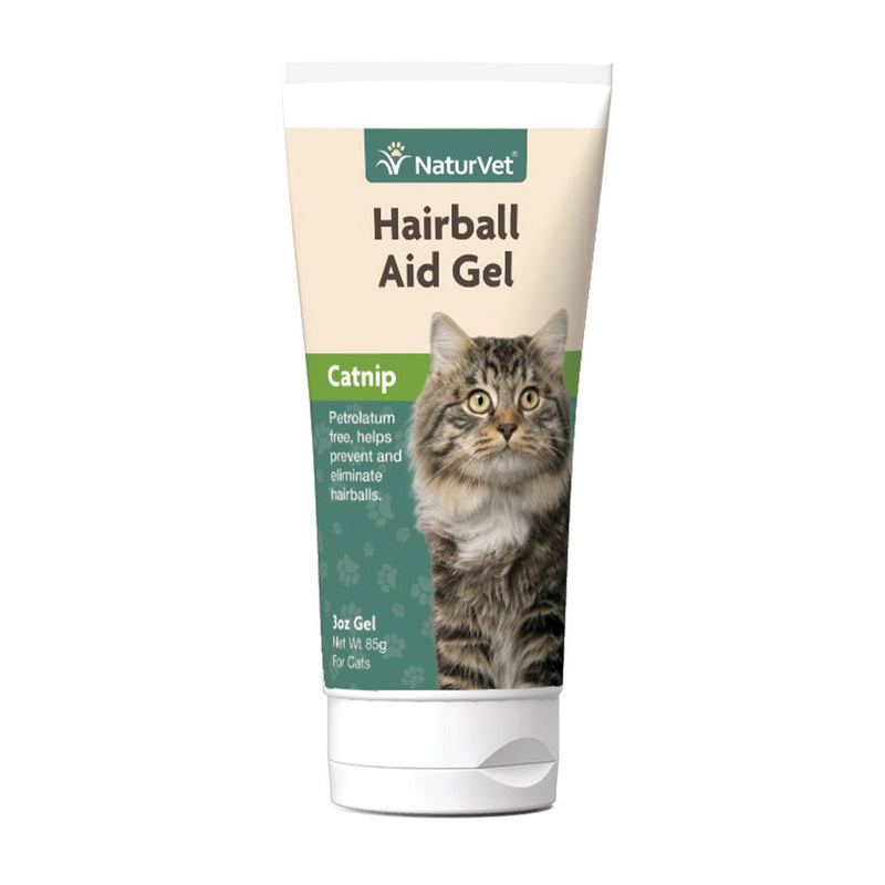 Naturvet® Natural Hairball Aid Plus Catnip Cat Gel 3 Oz
