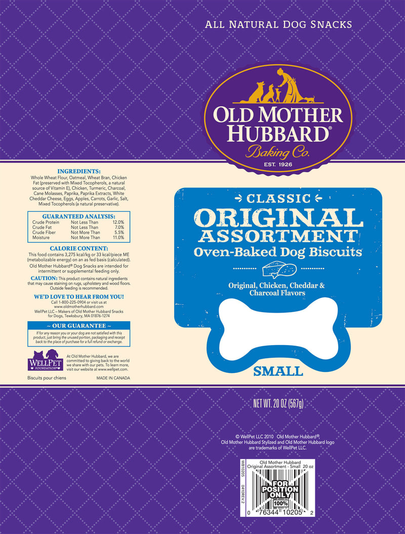 Old Mother Hubbard Crunchy Classic Natural Original Assortment Small Biscuits Dog Treats