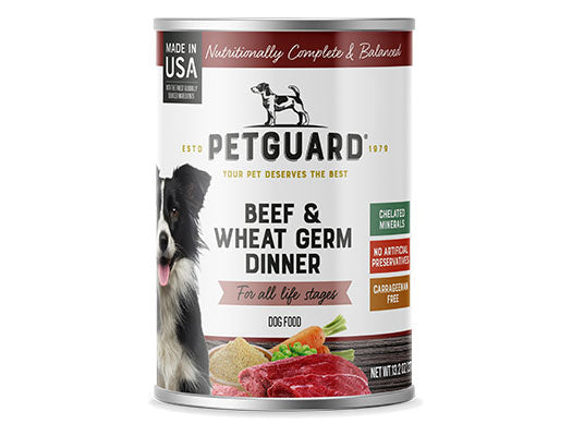Petguard Beef, Vegetable & Wheat Germ Dinner Canned Adult Dog Food