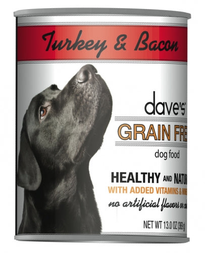 Dave's Grain Free Turkey and Bacon Canned Dog Food