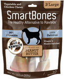 SmartBones Large Peanut Butter Chew Bones Dog Treats