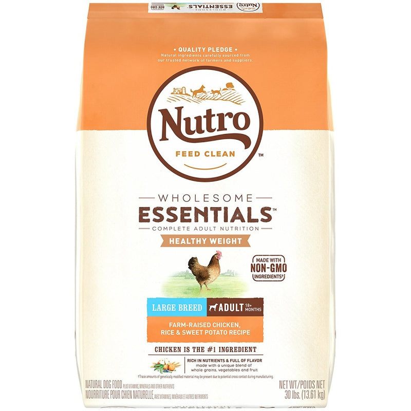 Nutro Wholesome Essentials Healthy Weight Large Breed Adult Farm-Raised Chicken, Rice & Sweet Potato Dry Dog Food