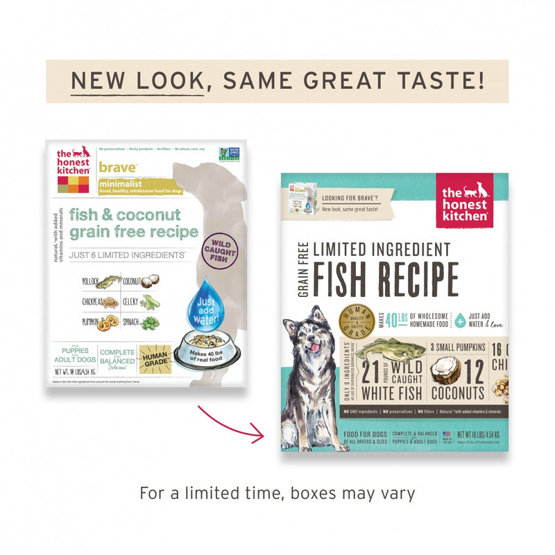 The Honest Kitchen Limited Ingredient Grain Free Fish Recipe Dehydrated Dog Food