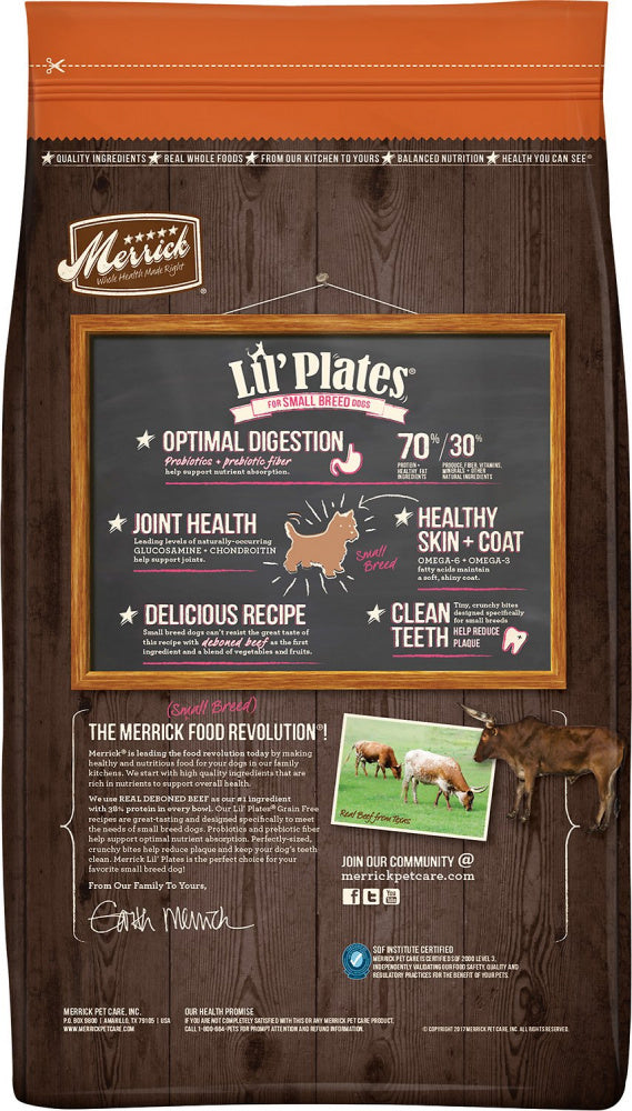 Merrick Lil' Plates Small Breed Grain Free Real Beef & Sweet Potato Dry Dog Food