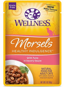 Wellness Healthy Indulgence Natural Grain Free Morsels with Tuna in Savory Sauce Cat Food Pouch