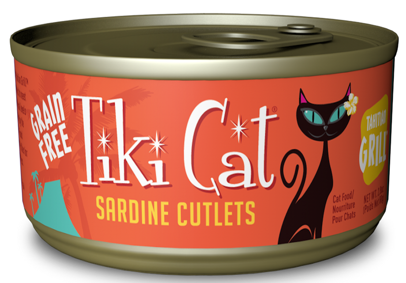 Tiki Cat Tahitian Grill Grain Free Sardine Cutlets Canned Cat Food