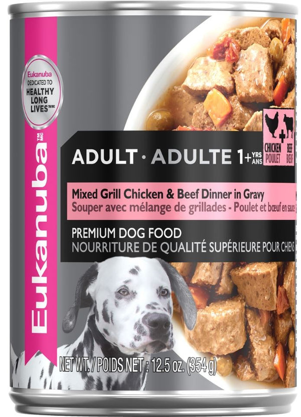 Eukanuba Adult Mixed Grill Beef & Chicken Dinner in Gravy Canned Dog Food