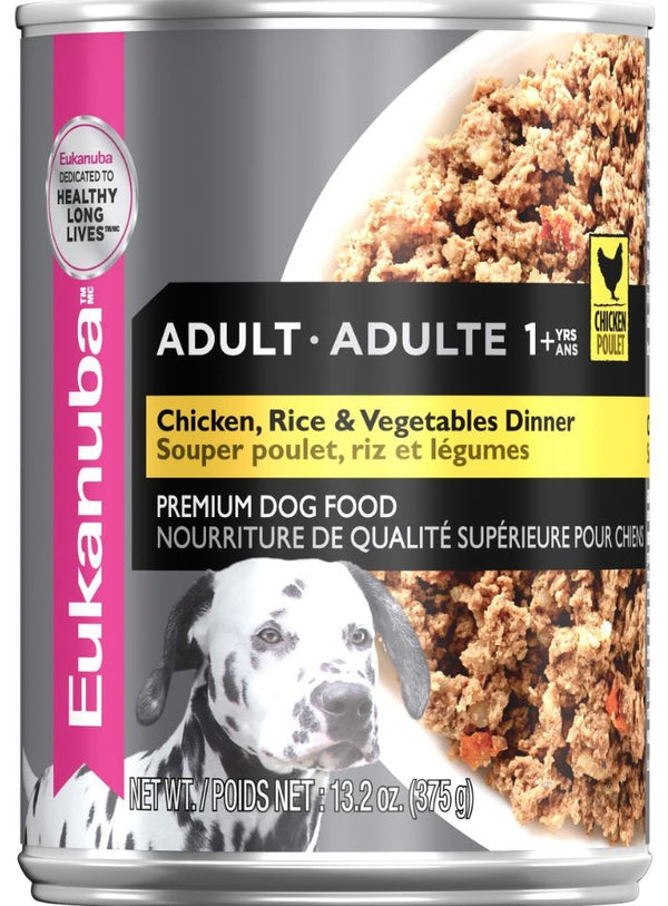 Eukanuba Adult Chicken, Rice, & Vegetables Dinner Canned Dog Food