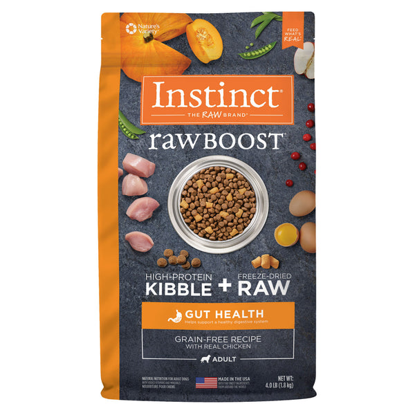 Instinct Raw Boost Grain Free Gut Health Recipe with Real Chicken Dry Dog Food