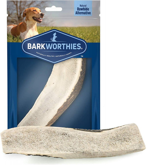 Barkworthies Split Elk Antler Dog Chew for Large Breed Dogs