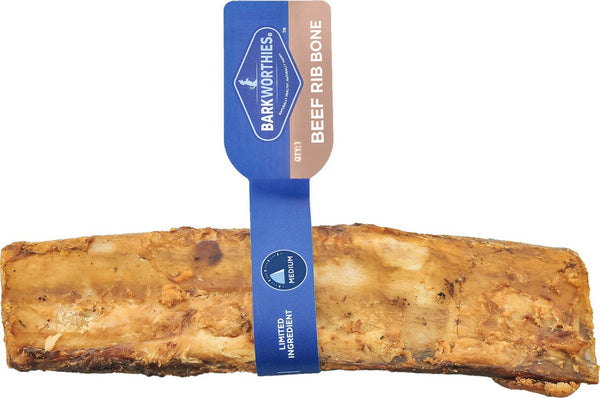 Barkworthies Beef Rib Bone Dog Chew