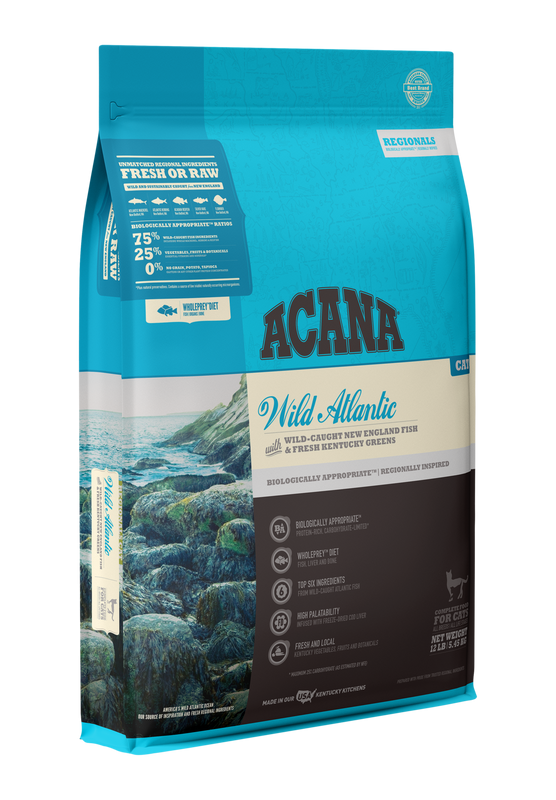 ACANA Grain Free Wild Atlantic Freeze Dried Coated Dry Cat Food