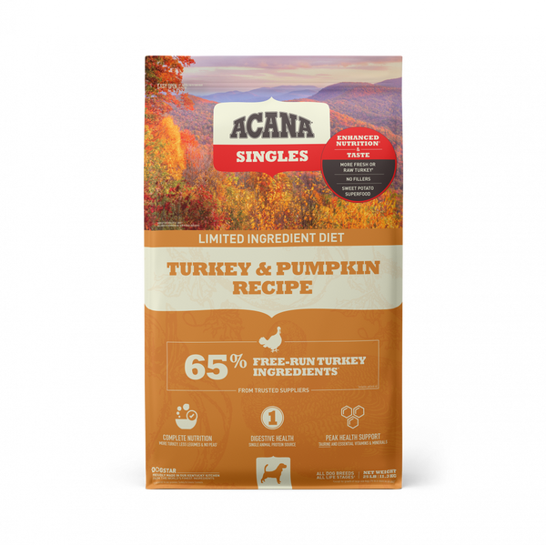 ACANA Singles Turkey & Pumpkin Recipe Grain Free Dry Dog Food