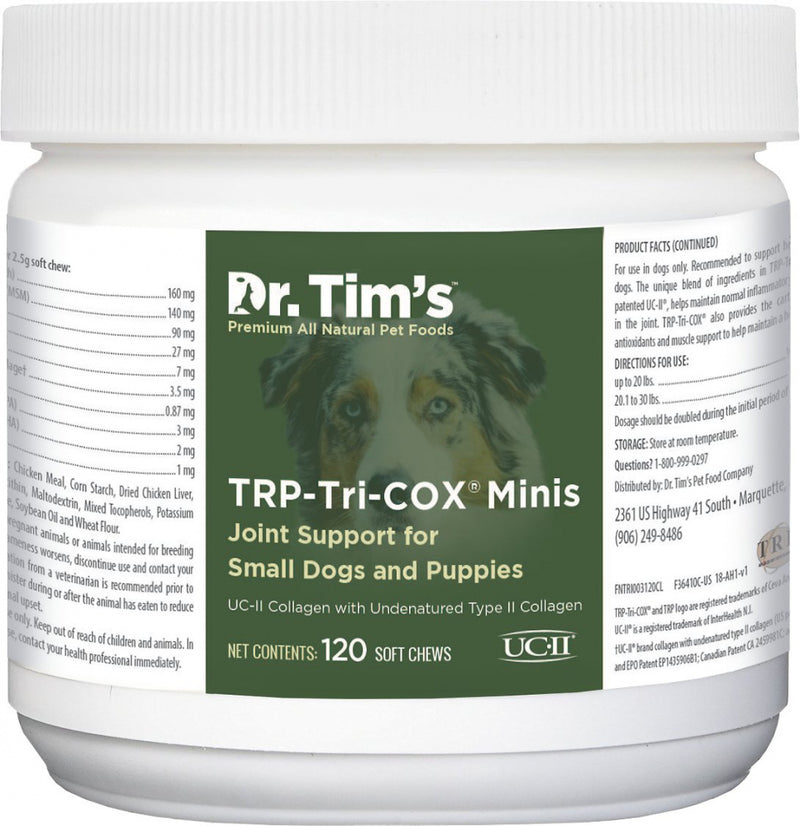 Dr. Tim's TRP-Tri-Cox Mini Joint Mobility Small Breed & Puppy Dog Supplements