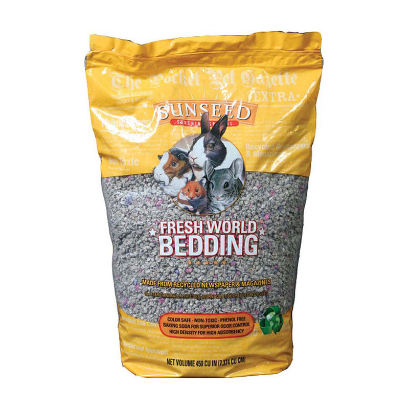 Sunseed® Fresh World Bedding Original Baking Soda Formula for Small Animals 450 Cubic Inch