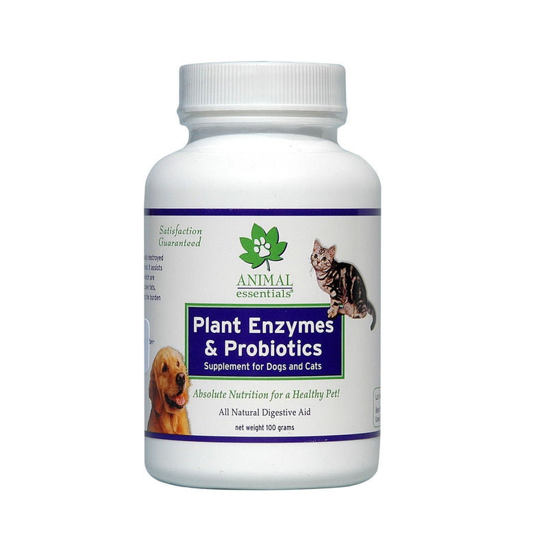 Animal Essentials® Plant Enzyme & Probiotics Digestive Supplement for Cat & Dog 100 Gm
