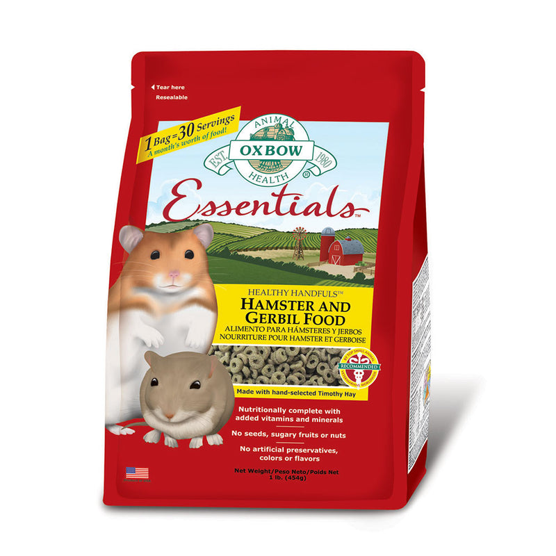 Oxbow Animal Health® Essentials Hamster & Gerbil Food 1 Lbs