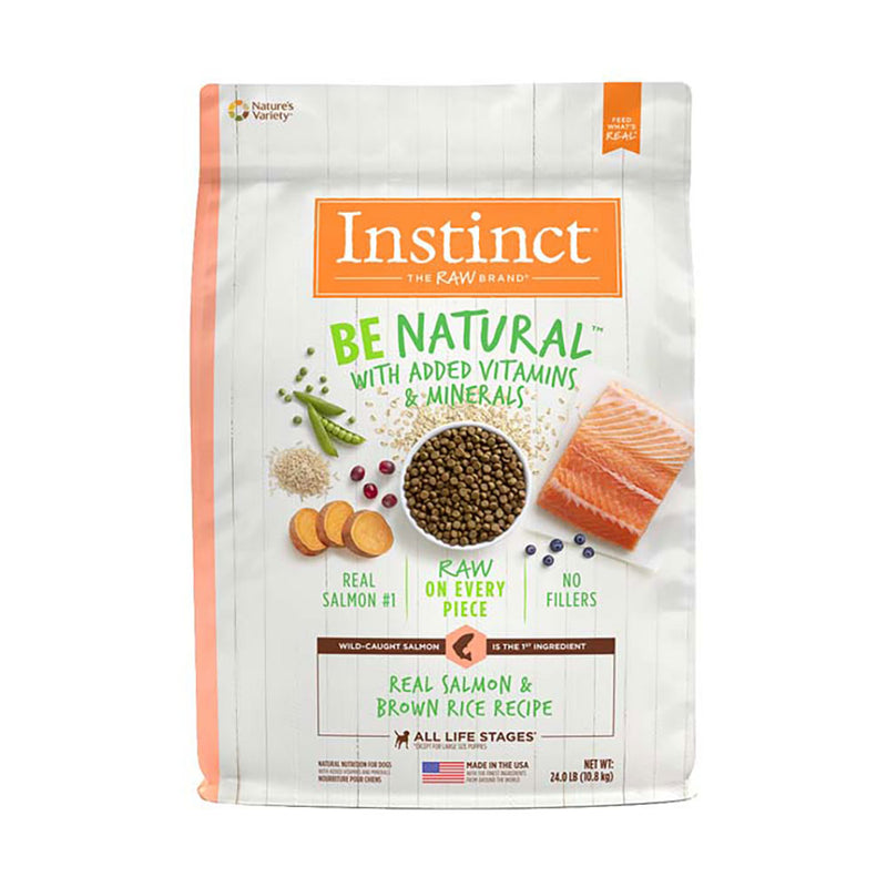 Instinct® Be Natural™ Real Salmon & Brown Rice Recipe Dog Food 24 Lbs