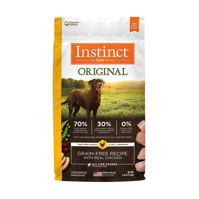 Instinct® Original Grain Free Recipe with Real Chicken Dog Food 4 Lbs