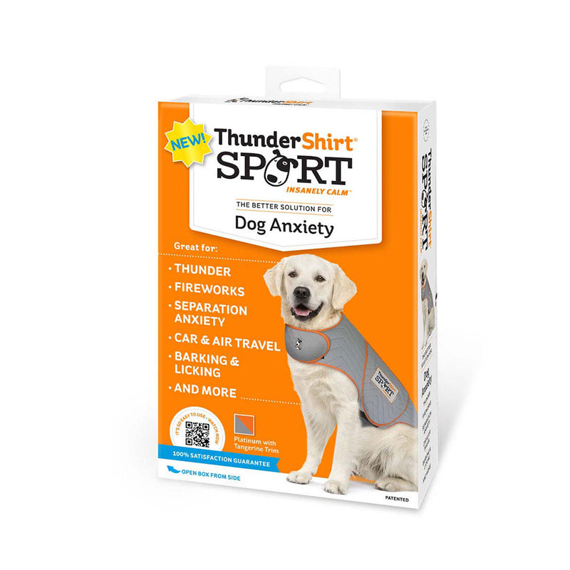 ThunderShirt® Sport Anxiety Jacket for Dog Platinum Color Large