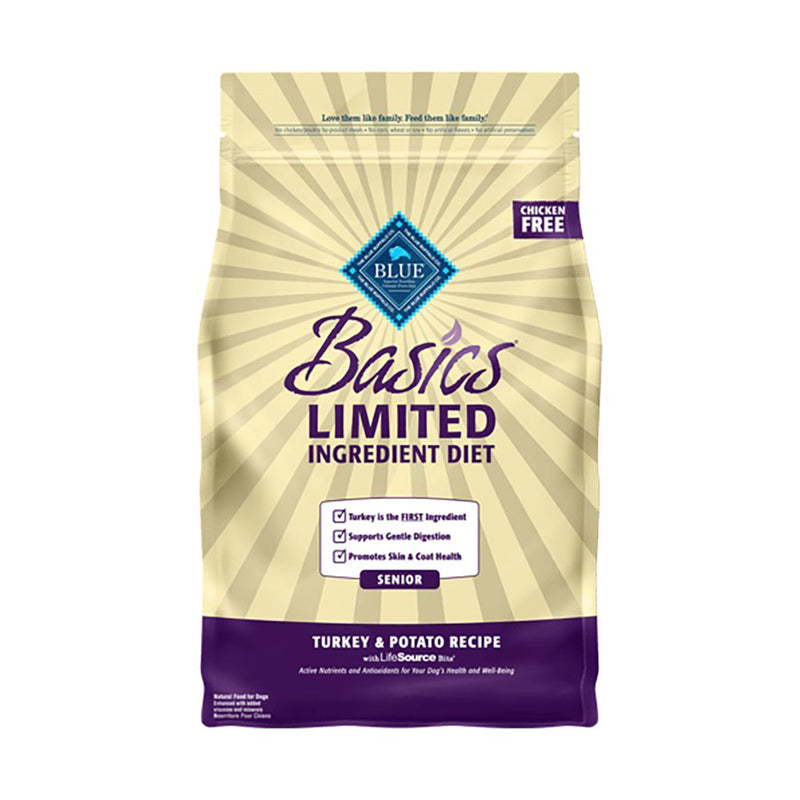 Blue Buffalo® Basics® Limited Ingredient Diet Turkey & Potato Recipe Senior Dog Food 4 Lbs