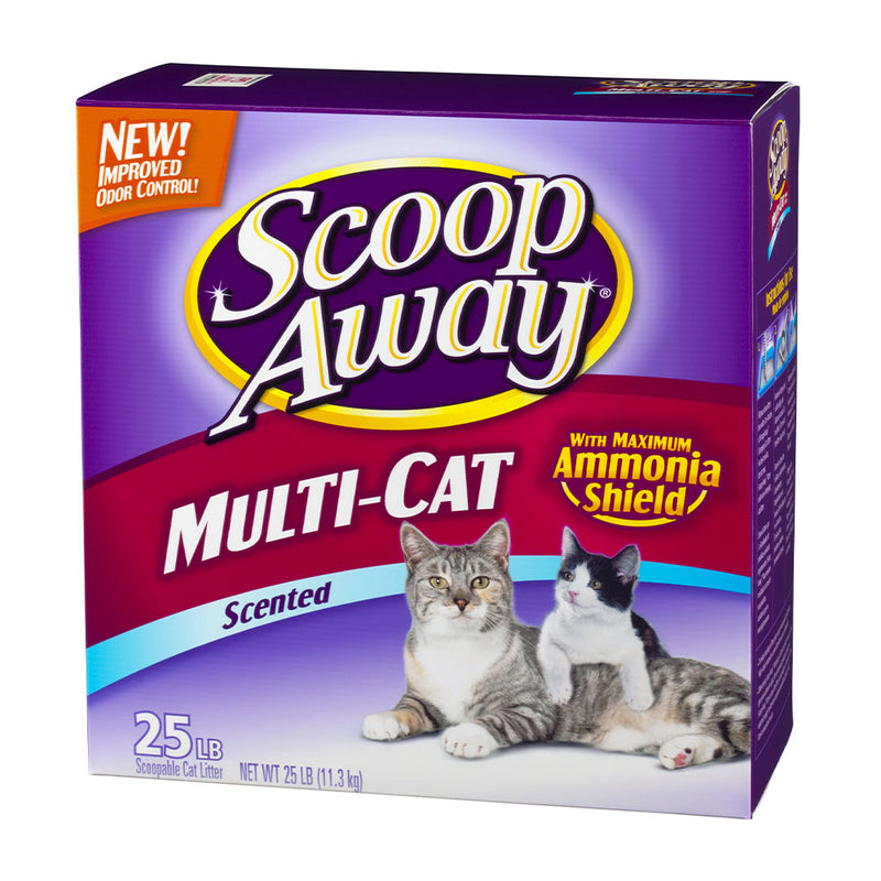 Scoop Away® Multi-Cat Scented Scoopable Cat Litter 25 Lbs