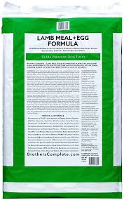 Brothers Complete Ultra Premium Dog Food Lamb Meal & Egg Grain Free Formula Nutrition Information