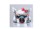 Load image into Gallery viewer, French Bulldog girl. 100% hand painted oil on canvas. Framed - Fun Animal Art