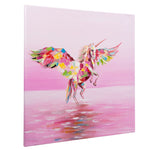 Load image into Gallery viewer, Flying Unicorn | Hand painted oil on canvas | 60x60cm Framed