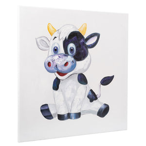 Cheerful Cow | Hand Painted Oil on Canvas | 60 x 60cm Framed