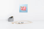 Load image into Gallery viewer, Happy Hippopotamus | Hand Painted Oil on Canvas | 60x 60cm Framed.